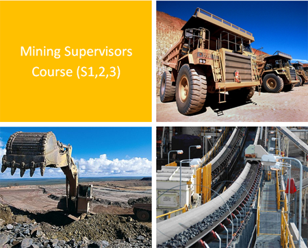 Supervisors Course - S1, 2, 3 For supervisors of Coal Mines